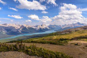 Medicine lake, Jasper National Park, Alberta, Canada.